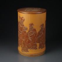 竹彫 碗筒