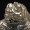 水晶 唐獅子 置物