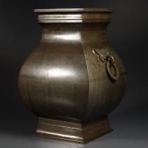 石叟 象嵌尊式花瓶