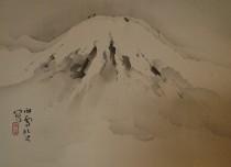橋本関雪 掛軸 富士図