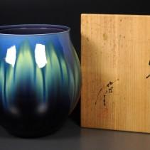 徳田八十吉 珀明釉 花瓶