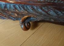 唐木葉盆 蝸牛 在銘