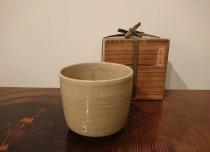 古萩筒茶碗